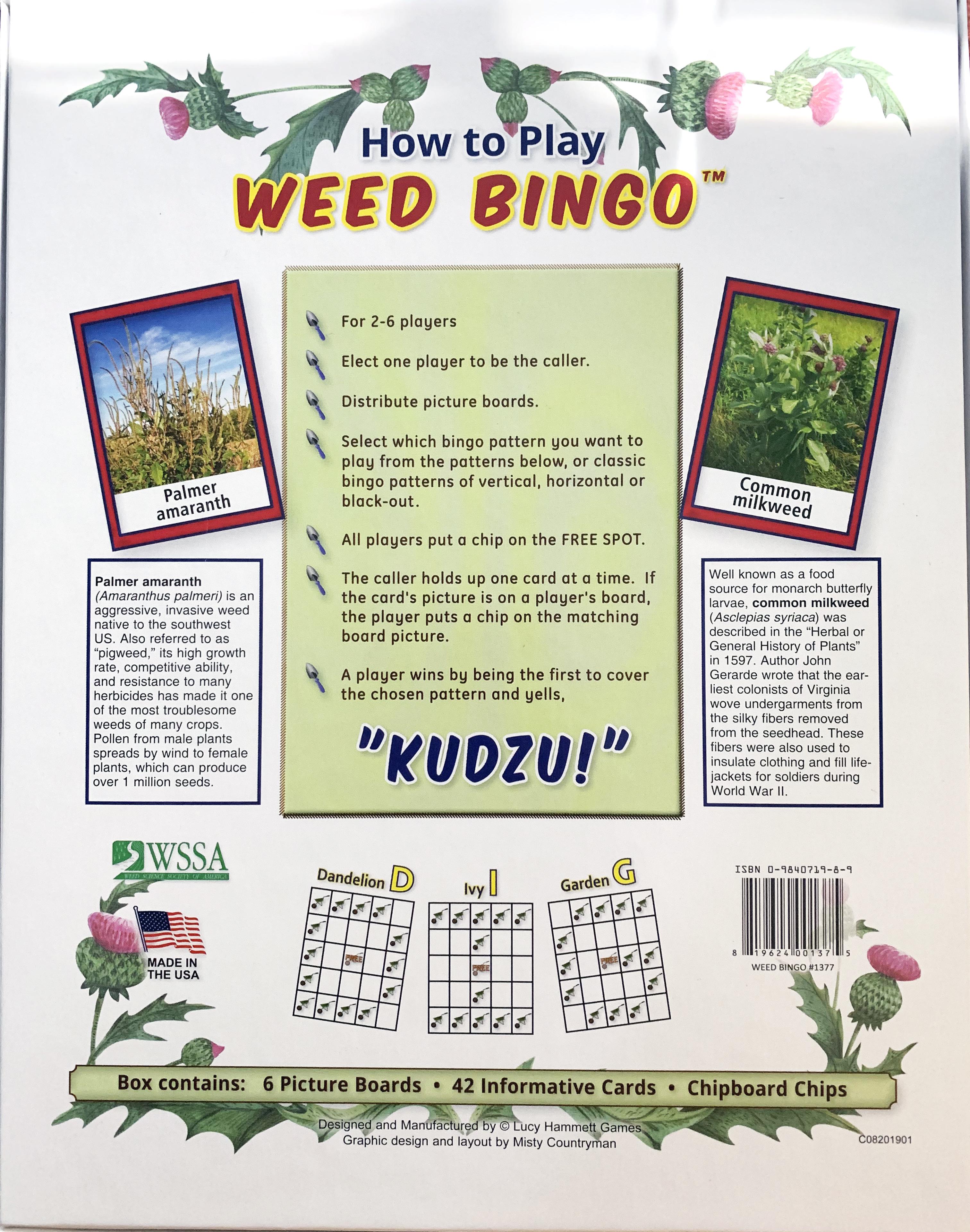 Weed Bingo Back